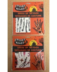 Halloween Dress Up Tattoos