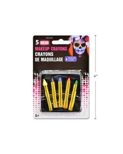 Halloween Neon No-Mess Make-Up Crayons ~ 5 per pack