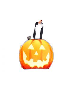 """Halloween Reflective Coated Non-Woven Pumpkin Trick or Treat Bags ~ 17.5""""L x 15.5""""W"""