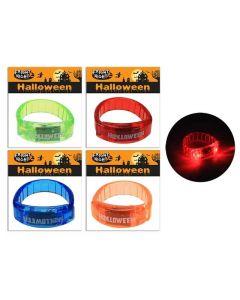 Halloween LED Light-Up Bracelet Wrist Band ~ 3-Functions