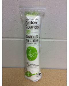 Delon Premium Cosmetic 100 % Pure Cotton Rounds ~ 100 per sleeve
