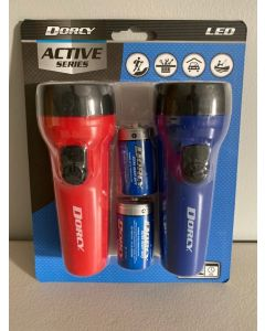Dorcy LED Plastic Flashlight Combo Pack