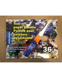 "Tear-Off Paper Pallette for Oil/Acrylic/Watercolor Paint - 9"" x 12""  ~ 36 sheets"