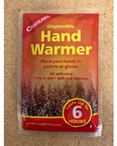 Coghlan's Disposable Hand Warmers ~ 1/pk