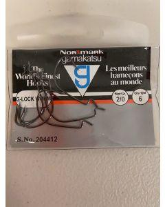 Gamakatsu G-Lock Worm Hook ~ 5 per pack