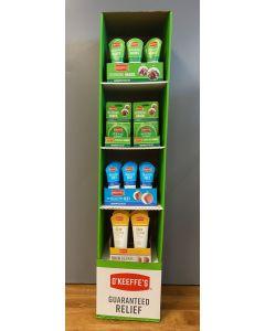 O'Keeffe's Combo Tower Display - Working Hands / Healthy Feet / Skin Repair ~ 42 per tower display