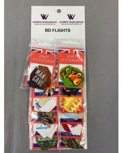 BD Assorted Flights ~ 12 per card