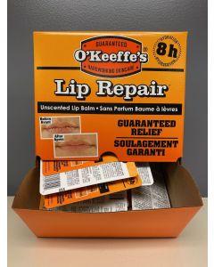 O'Keeffe's Lip Repair Unscented Lip Balm - 4.2gr stick~ 24 per gravity display