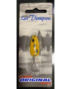 Len Thompson Lure - 6g / 1/5oz ~ Yellow with 5 Black Diamonds