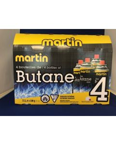 Martin Butane Refill for Stoves - 228gm tin ~ SOLD ONLY BY SLEEVES OF 4