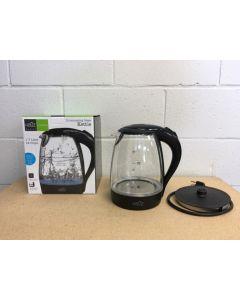 Illuminating Glass Kettle - BLACK ~ 1.7L / 12 Cups