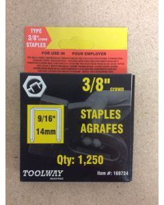 """Toolway T-50 Staples ~ 9/16"""" / 14 mm"""