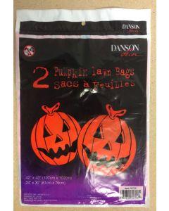 Halloween Lawn Leaf Bag ~ Pumpkin Design