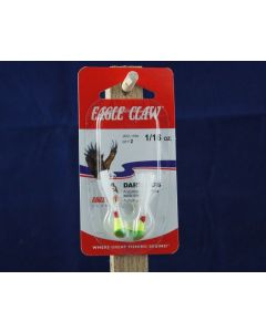 Eagle Claw Shad Darts - 1/16oz ~ Chartreuse / Lime