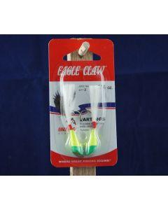 Eagle Claw Shad Darts - 1/4oz ~ Chartreuse / Lime