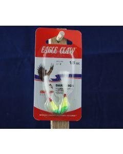 Eagle Claw Shad Darts - 1/8oz ~ Chartreuse / Lime