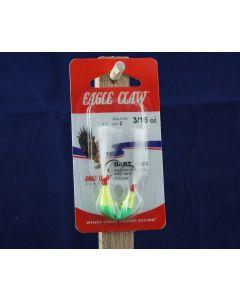 Eagle Claw Shad Darts - 3/16Oz ~ Chartreuse / Lime
