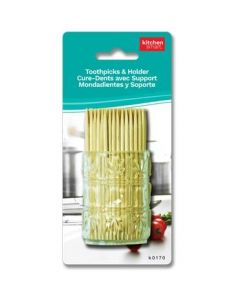 Wooden Toothpicks w/Holder