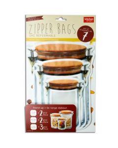 Stand-Up Jar Shaped Zipper Bags ~ Set of 7