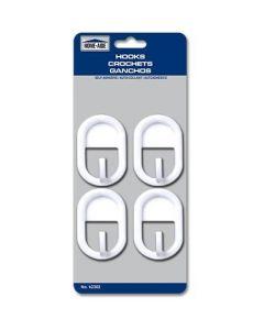 Self-Adhesive Hooks - Medium ~ 4 per pack
