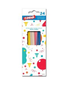 Birthday Candle - Assorted Colors Extra Long ~ 24 per pack