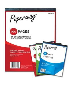 Writing Tablet - Non-Lined - 50 sheets ~ 12 TABLETS PER PACK