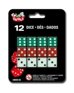 """Dice - 0.5"""" x 0.5"""" (1.3cm) ~ 12 per pack"""