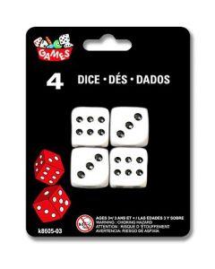 """Dice - 0.75"""" x 0.75' (2cm) ~ 4 per pack"""