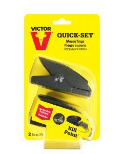 Victor Quick Set Plastic Mouse Traps ~ 2 per pack