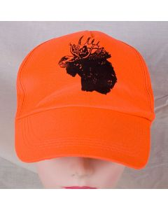 Fl. Orange Ball Cap w/Moose
