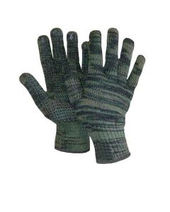 Unlined Camo Gloves with PVC Dots ~ 12 pairs / sold by the dozen
