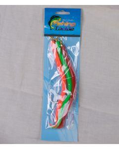 Rubber Cod Worm w/12/0 Hook - Fl. Orange, Green, Red ~ 3 per pack