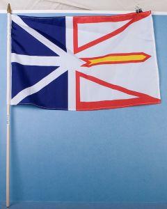"""Newfoundland Flag w/Stick ~ 12"""" x 18"""""""