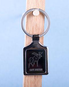 Cape Breton Moose Keychain w/Black Background