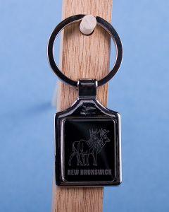 New Brunswick Deer Keychain w/Black Background