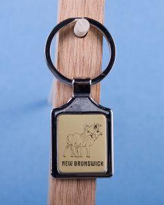 New Brunswick Deer Keychain w/Gold Background