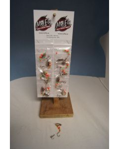 Mr Fly Minnow Rig w/Adjustable Stinger Hook - Red & Green Beads