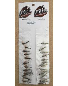 Black or Olive Nymph Flies