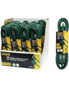 ShopPro Outdoor Green Extension Cord - Light Duty ~ 10'