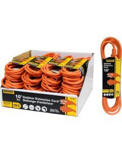 ShopPro Outdoor Orange Extension Cord ~ 10'