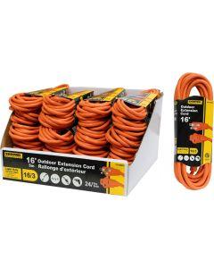 ShopPro Outdoor Orange Extension Cord ~ 16'
