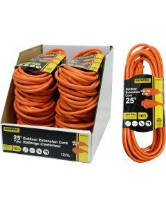 ShopPro Outdoor Orange Extension Cord ~ 25'