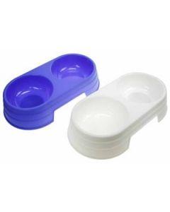 Plastic Double Feeding Dish ~ 700ml
