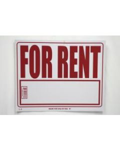 """PVC Sign - 16"""" x 20"""" ~ For Rent"""