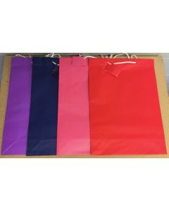 Wide Jumbo Gift Bags ~ Solid Colors