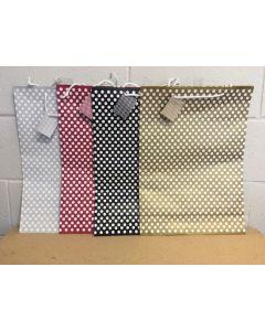 Wide Jumbo Gift Bags ~ Polka Dots