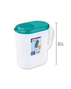 Sterilite Plastic Oval Pitcher with Lid ~ 3.8L
