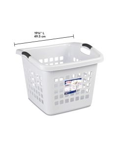 Sterilite Ultra Square Laundry Basket - White ~ 62 Litre