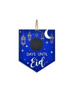 """Ramadan Chalkboard MDF Hanging - Days Until Eid ~ 15"""" x 12"""""""