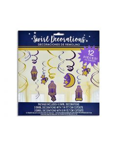 Ramadan Hanging Foil Decorations ~ 12 pieces